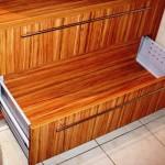 3 meble łazienkowe z frontami ze szkła i aluminium szafka pod zlewem z szufladą